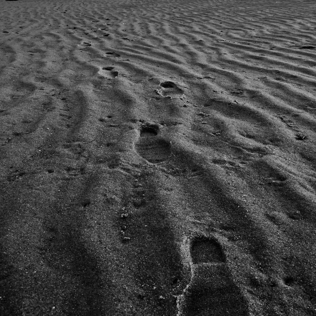 Like footprints in the sand
